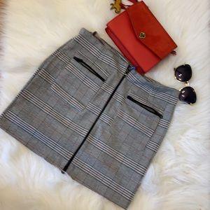 Brand new Zara check mini skirt